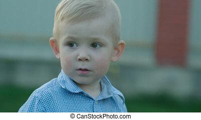 Nice Little Boy Outdoor