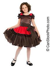Nice little girl in a dress