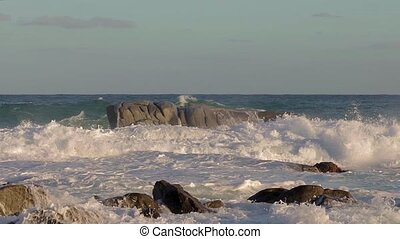 Nice motion footage with big waves from a Spanish coastal