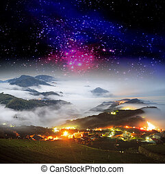 nice night view in the mountain