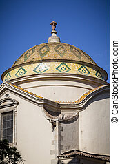 nice ornaments on a dome roof of a church, found in barcelona