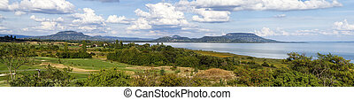 Nice panorama landscape from Hungary (Lake Balaton)