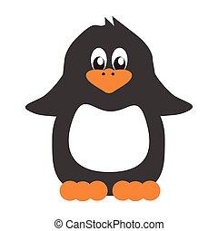 nice penguin on white background vector illustrtion