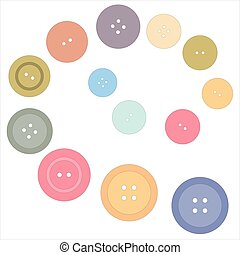 Nice picture with colored buttons on a white background