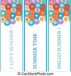Nice picture with three bookmarks with floral patterns on the top and the various inscriptions