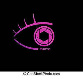 nice pink half eye photo icon
