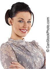 nice portrait smiling woman
