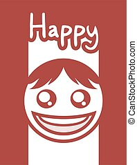nice red happy face design