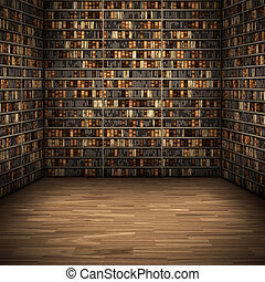 nice room - An image of a nice library background