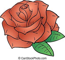 nice rose illustration.eps