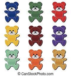 nice scrapbook teddy bears on white