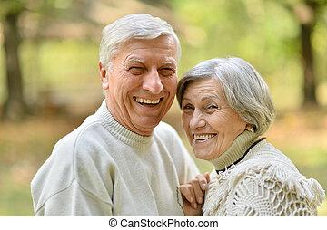 Nice senior couple - Portrait of a nice senior couple in ...