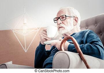 Nice senior man resting