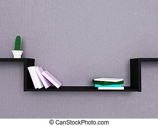 nice shelf on the wall, 3d