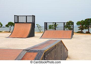 nice skate in sports park