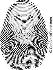 skull thumbprint