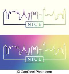 Nice skyline. Colorful linear style.