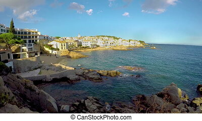 Nice small spanish village Calella de Palafrugell in Costa Brava of Spain