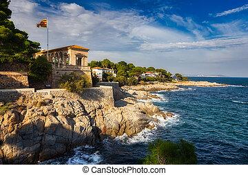 Nice Spanish coastal landscape near the village Sagaro