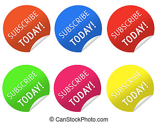 Subscribe today stickers  - Nice Subscribe today stickers