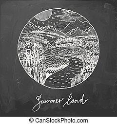 nice summer landscape