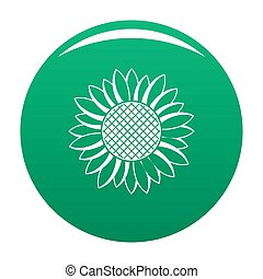 Nice sunflower icon green