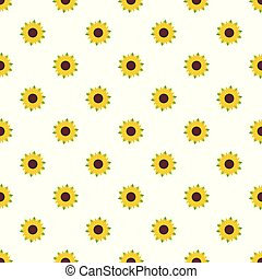 Nice sunflower pattern seamless vector