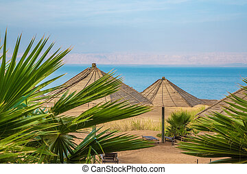 Nice sunny day at the Dead Sea resort