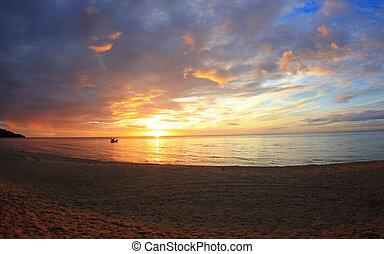 Nice sunrise on the beach