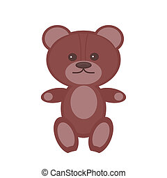 nice teddy bear on white background