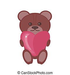 nice teddy bear with heart