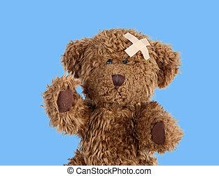Nice teddybear with a band-air