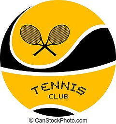 nice tennis club emblem design