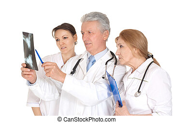 Nice three doctors with xray