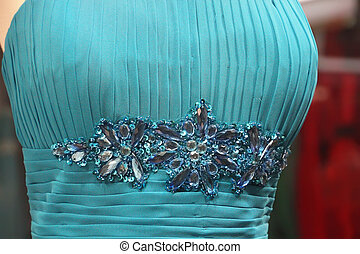 nice touch of blue evening dress women