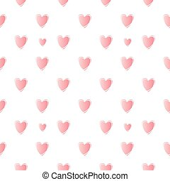 Nice vector pattern with pink hearts