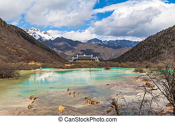 Nice view in Huanglong National park ofSichuan China