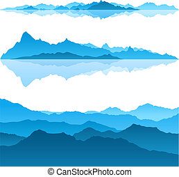 Blue Mountains - Nice view of the Blue Mountains - a vector...