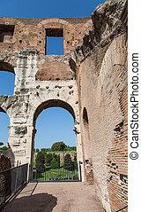 Nice View Through Old Roman Arch