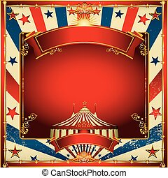 Nice vintage circus background with big top - A circus...