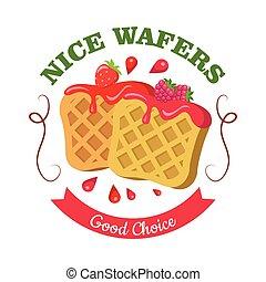 Nice Wafers. Good Choice. Belgian Waffle with Jam