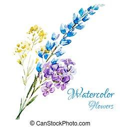 Nice watercolor flowers
