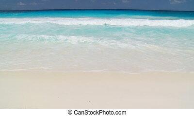 nice waves on sandy beach