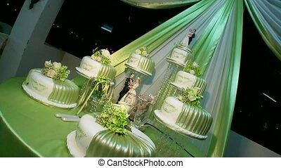 Nice Wedding Cake with Decoration - Big Wedding Flan