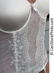 nice white lingerie model