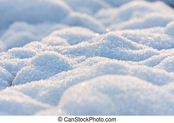 Nice winter texture from snow