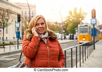 Nice woman on the street
