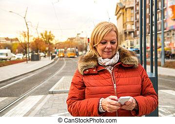 Nice woman on the street