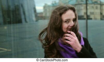 Nice young woman posing