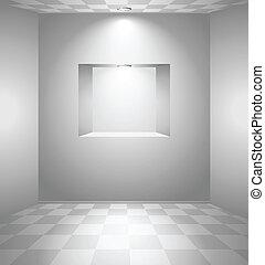 niche, blanche salle
